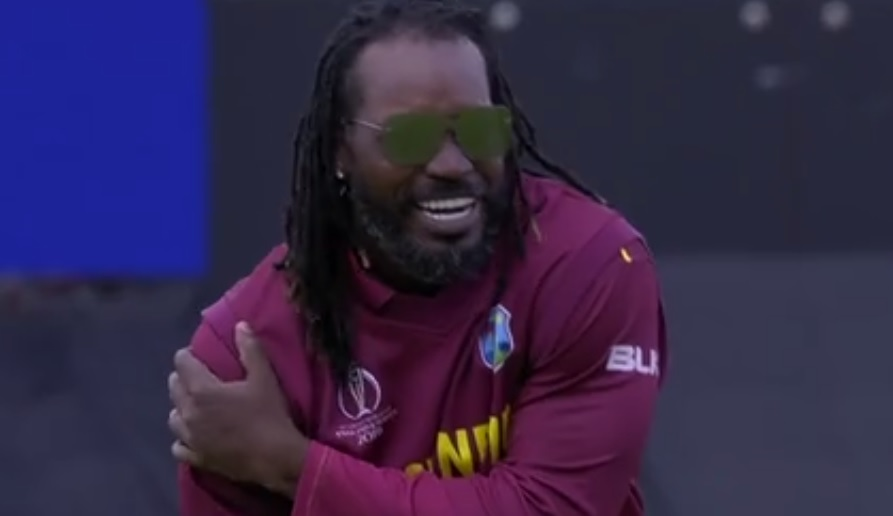 WATCH: Chris Gayle celebrates in comical manner after dismissing Ross Taylor during West Indies vs New Zealand World Cup match