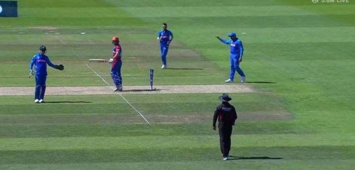 WATCH: MS Dhoni forces umpire to refer the decision upstairs despite a clear not out   India vs Afghanistan