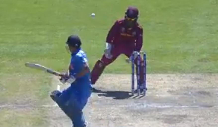 MS Dhoni missed stumping: Watch Dhoni get a lifeline as Shai Hope misses a regulation chance behind wickets