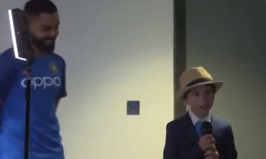WATCH: Young boy takes over as media manager for Virat Kohli's pre match press conference ahead of India vs England match   Cricket World Cup 2019