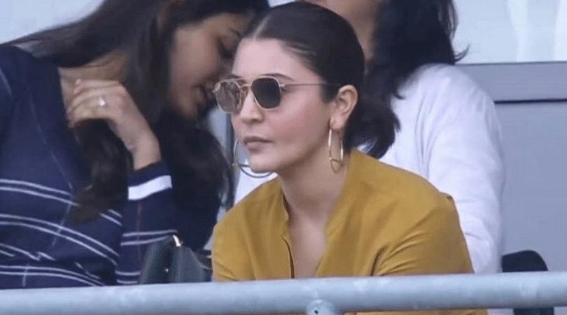 WATCH: Anushka Sharma asks signal for four during Sri Lanka-India match; leaves Twitter in splits