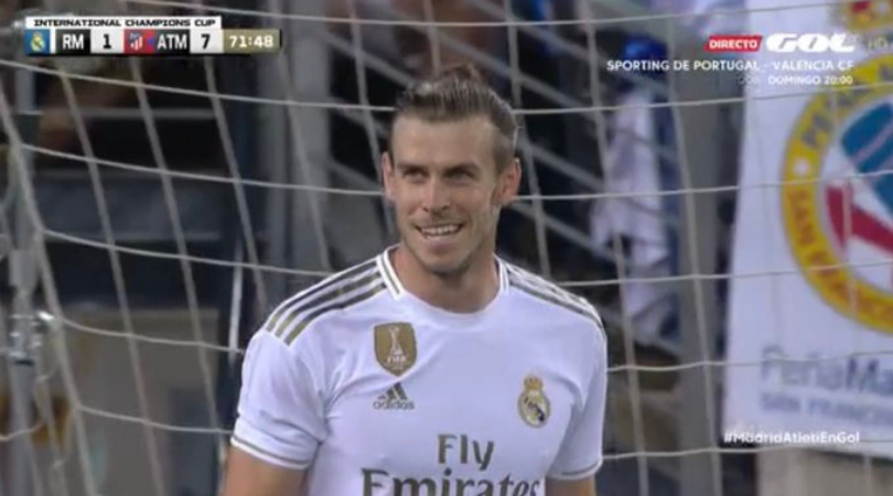 Gareth Bale: Welsh Winger found smiling during Real Madrid's 7-3 loss to Atletico Madrid