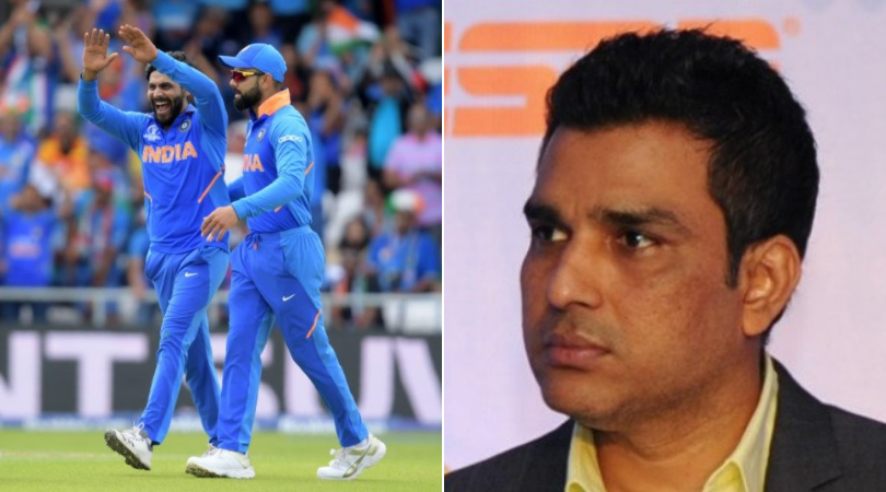 CSK mock Sanjay Manjrekar as MS Dhoni affects stumping on Ravindra Jadeja's bowling