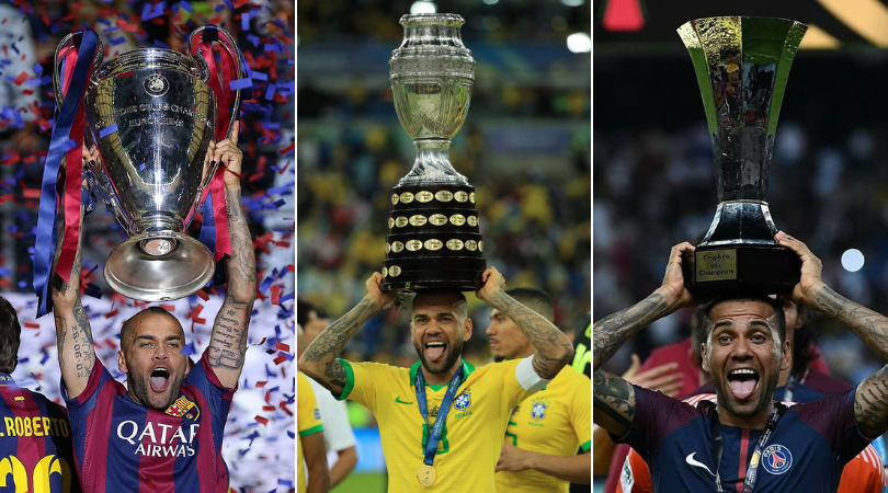 Dani Alves becomes the first footballer in history of the game to win 40 trophies