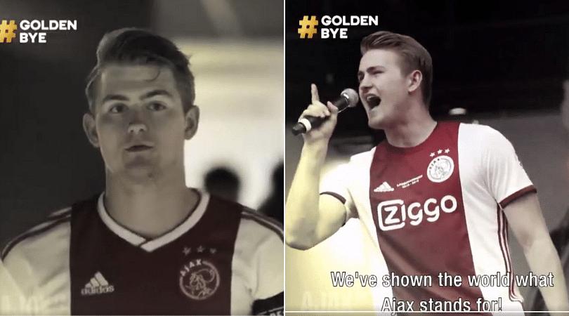 Matthijs De Ligt: Ajax release unreal 'Golden Bye' video thanking their Skipper upon Juventus move