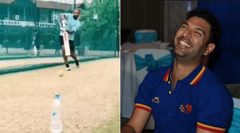 WATCH: Shikhar Dhawan nails Bottle Cap Challenge; Yuvraj Singh showers praise