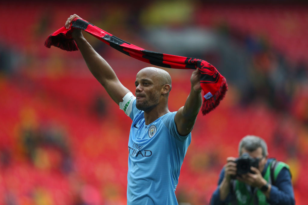 Watch Vincent Kompany's emotional farewell speech to teammates after his last game with Manchester City