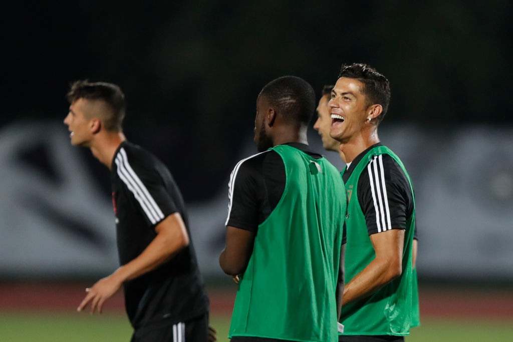 Watch: Cristiano Ronaldo jumps on policeman after a fan tried to invade Juventus training Session