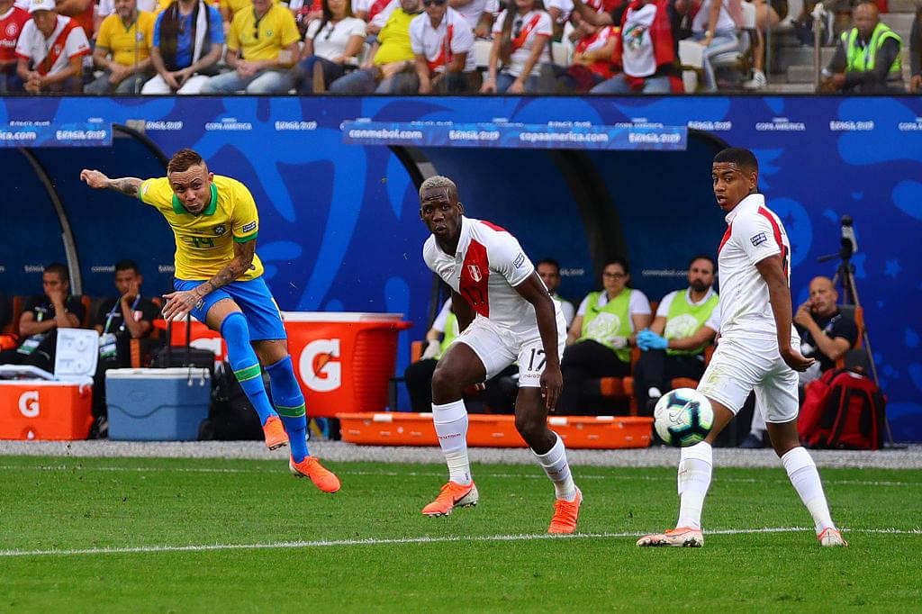 Everton goal Vs Peru: Watch Everton score against Peru to gain 1-0 lead in Copa America final