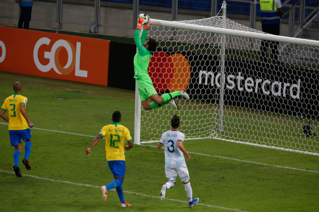 Alisson Becker: Watch Brazil goalkeeper pulling off an incredible save to deny Lionel Messi from free-kick