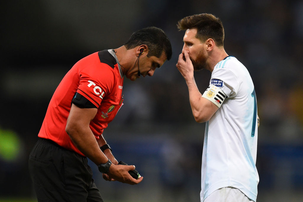 Lionel Messi accuses referee of bias for Brazil after a 2-0 defeat in Copa America semi-final