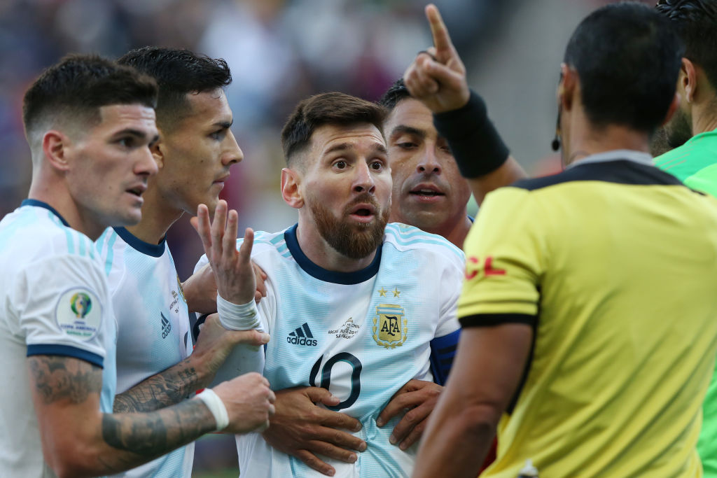 Copa America referee explains reason of dismissing Lionel Messi in Chile Vs Argentina