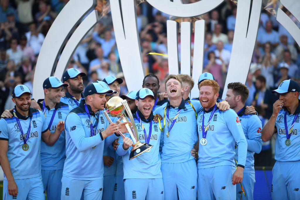 Who won Player of the Tournament award after England clinch their maiden World Cup title?