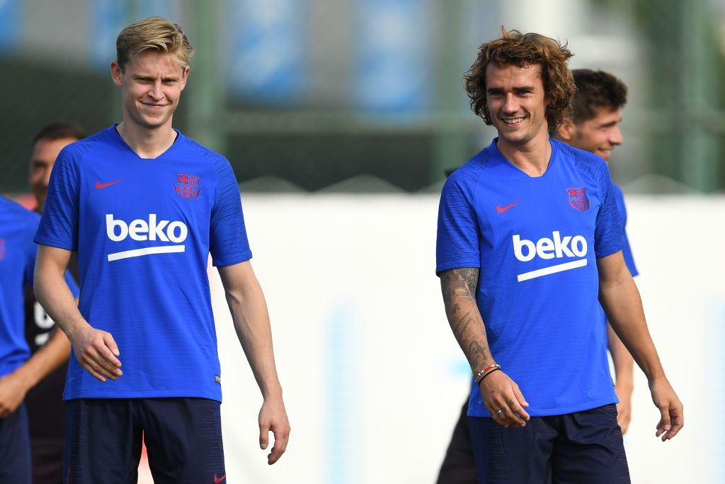 Antoine Griezmann : Barcelona new signing nutmegged twice in his first training session