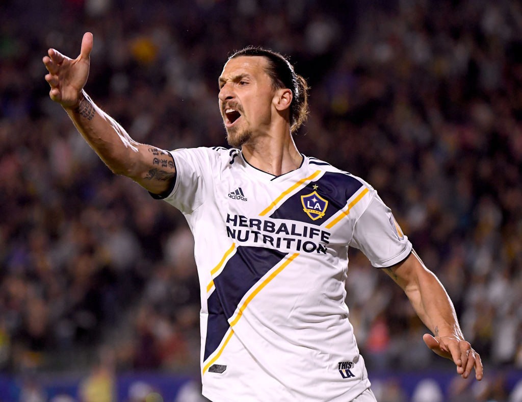 Watch: Zlatan Ibrahimovic tosses LAFC player after scoring his hattrick