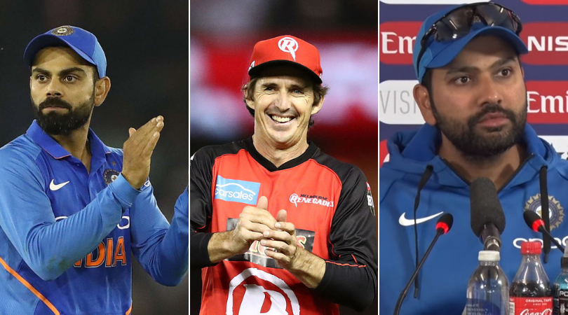"""Who is the better captain between Virat Kohli and Rohit Sharma"", Brad Hogg answers"