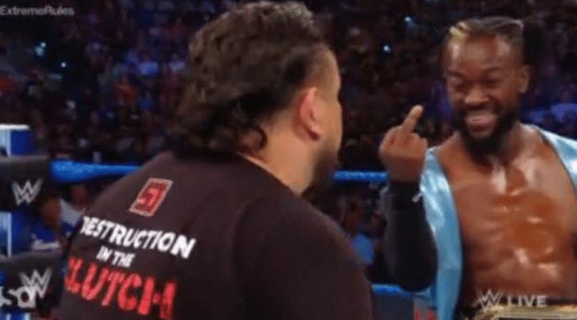 Watch: WWE Champion Kofi Kingston gives Samoa Joe the middle finger on SmackDown
