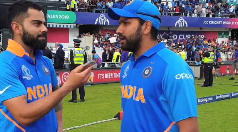 WATCH: Virat Kohli lauds Rohit Sharma for achieving 'never seen before' record in 2019 Cricket World Cup