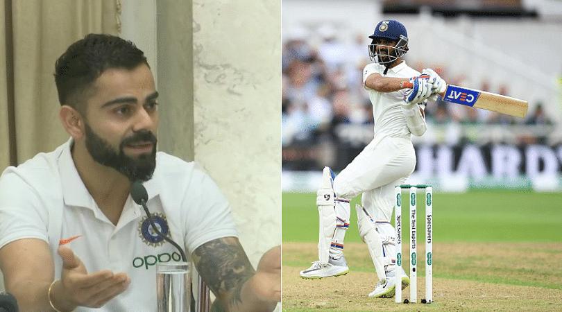 Virat Kohli passes huge statement on Ajinkya Rahane's mediocre Test form ahead of West Indies tour