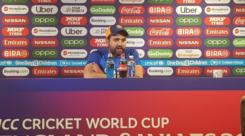 Rohit Sharma passes huge statement on MS Dhoni's approach in slog overs vs England in 2019 Cricket World Cup