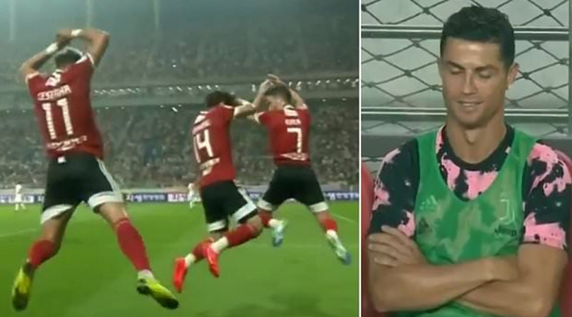 Watch: Cristiano Ronaldo reacts to K-League All-stars copying his 'SIUUUU' celebration after scoring against Juventus
