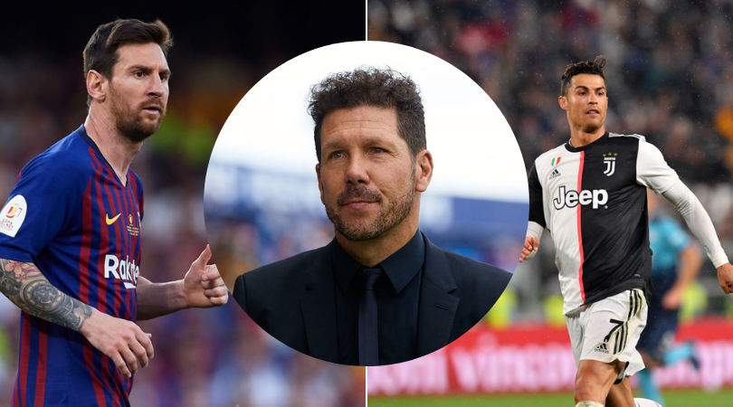 Diego Simeone names the best player in the world between Lionel Messi and Cristiano Ronaldo