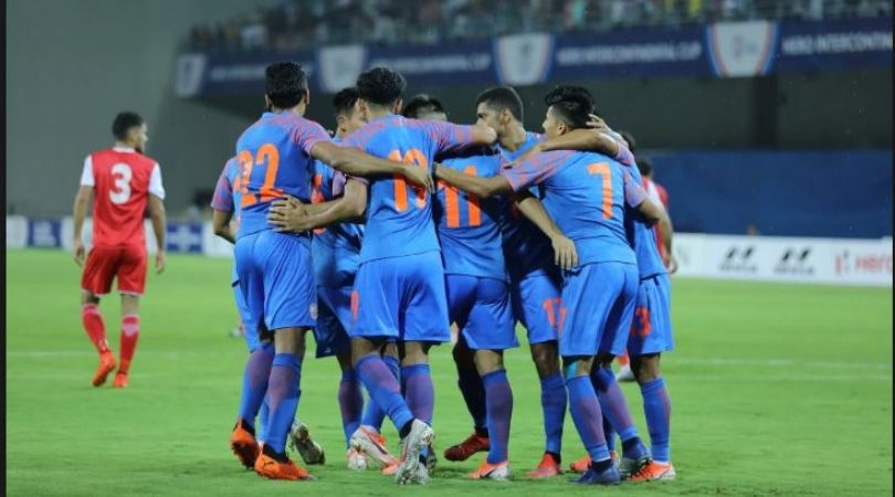 India goal against Syria : Watch Narendra Gahlot score India's first goal against Syria in 2019 Intercontinental Cup