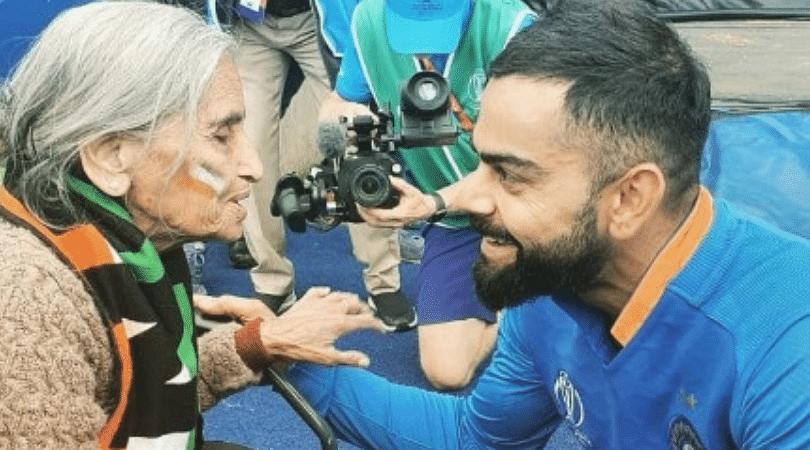 WATCH: Virat Kohli meets 87-year old Charulata Patel after India beat Bangladesh in 2019 Cricket World Cup