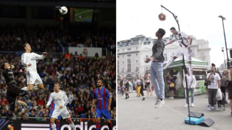 £1000 was the lottery awarded to the public equaling or surpassing Cristiano Ronaldo's jump