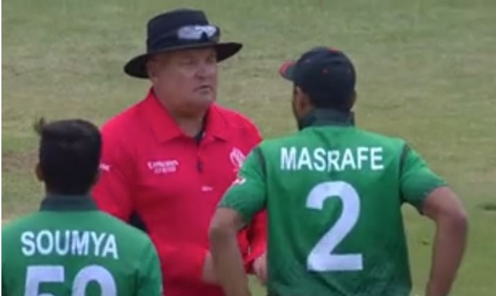 WATCH: Bangladesh save their review as umpire prevents them from taking DRS | India vs Bangladesh