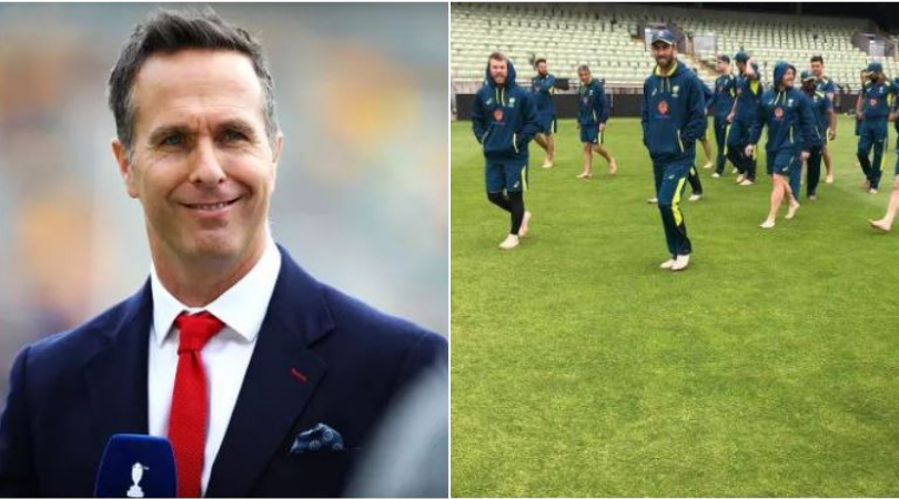 Michael Vaughan trolls Australian Cricket team after they walked barefoot prior to 2019 World Cup semi-final vs England