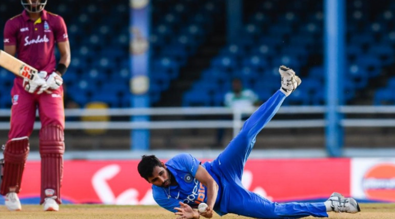 Bhuvneshwar Kumar caught and bowled vs West Indies: Watch Indian pacer's breathtaking fielding effort in 2nd ODI at Port of Spain
