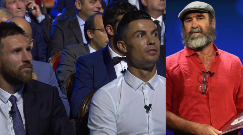 Eric Cantona's cryptic acceptance speech leaves everyone including Lionel Messi and Cristiano Ronaldo perplexed