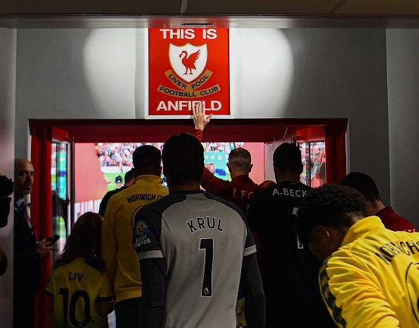After three-and-a-half years, Jurgen Klopp allows Liverpool players to touch 'This is Anfield' sign