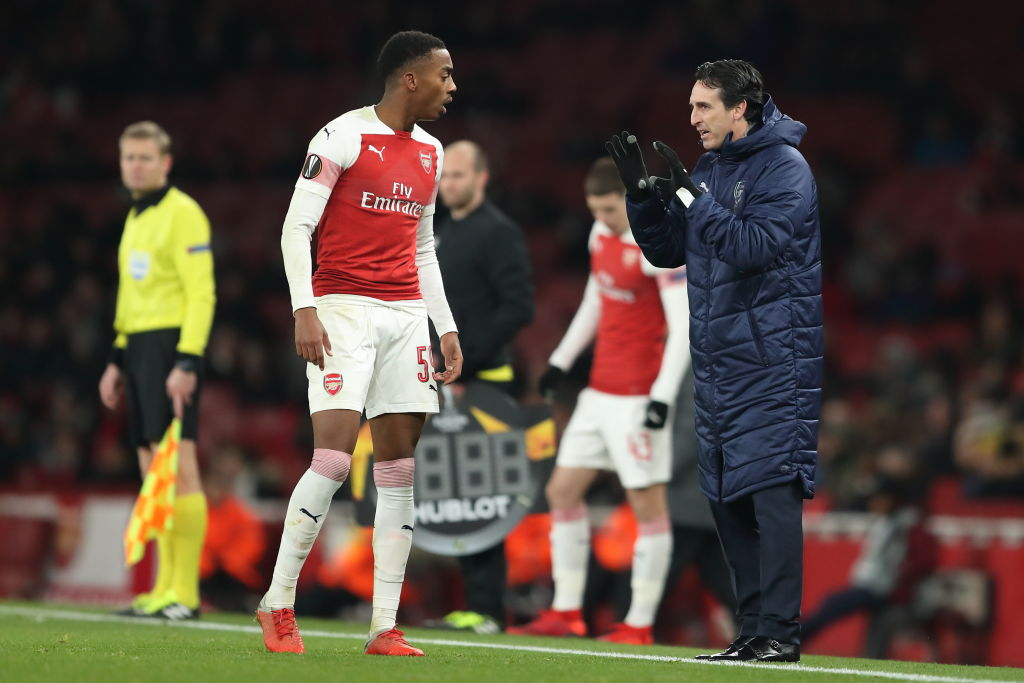 Unai Emery's passionate reaction to Joe Willock's recovery tackle is being loved by Arsenal fans