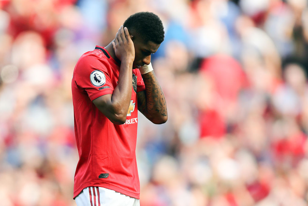 Marcus Rashford penalty miss vs Crystal Palace
