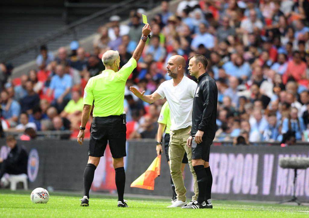 Pep Guardiola Yellow Card: Man City boss becomes the first manager to receive a yellow card