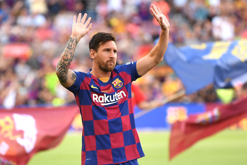 Lionel Messi: Barcelona captain addresses the fans at Camp Nou, says he doesn't regret promising them the champions league last season.