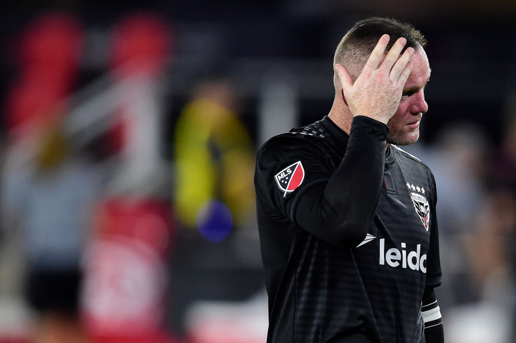 Wayne Rooney unleashes abusive rant on assistant referee after being subbed off