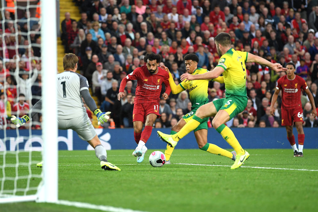 Mohamed Salah goal vs Norwich City: Watch the Liverpool star open his account in the first game of the season
