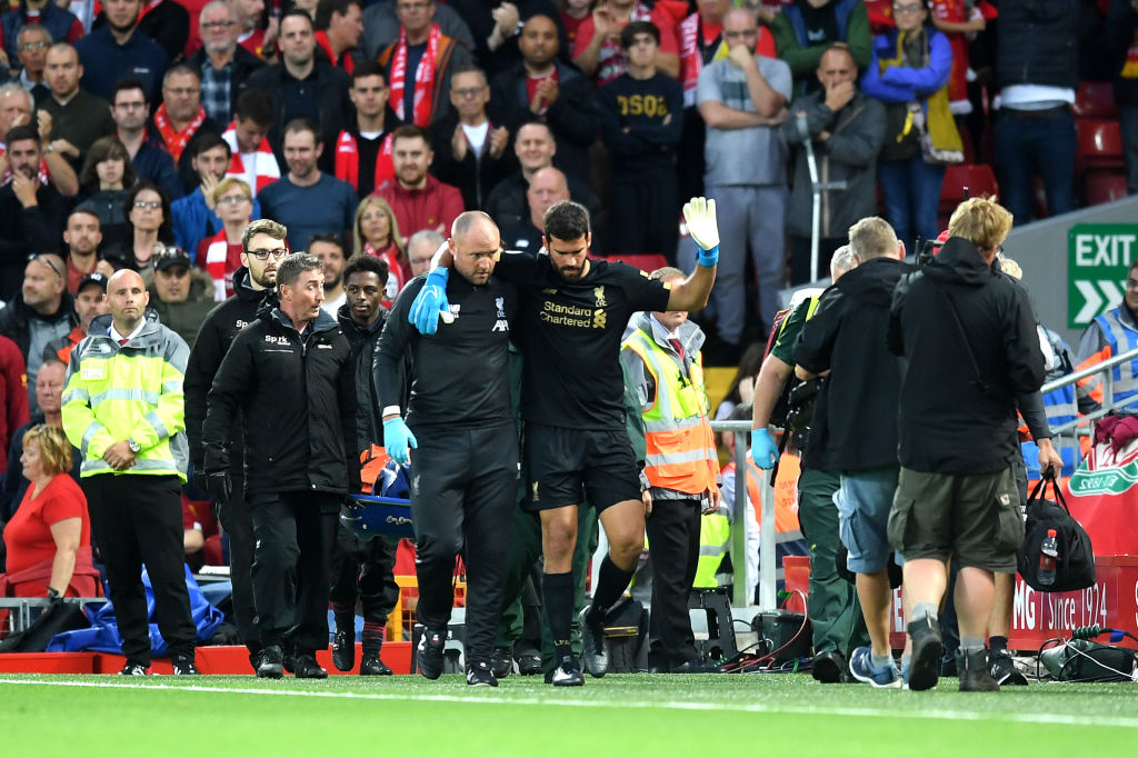 Alisson Injury Vs Norwich City: Star Keeper limps off with Injury in the first half of the Premier League opener