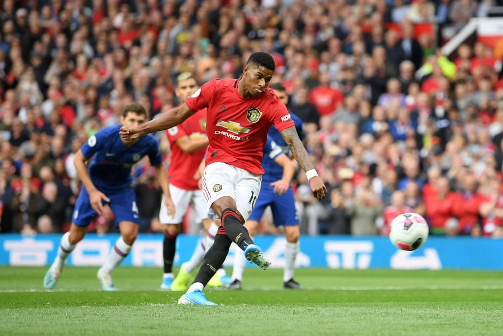 Marcus Rashford goal Vs Chelsea: Watch Rashford thumping penalty against the Blues to open the score