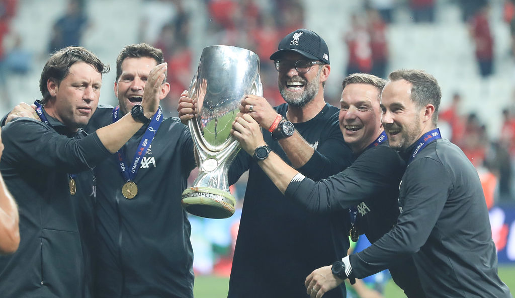 Jurgen Klopp hilariously impersonates 'Rocky Balboa' following Adrian's heroics in the UEFA Super Cup