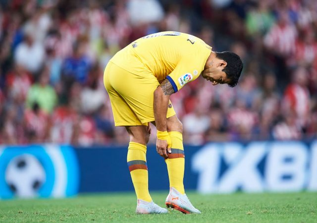 Luiz Suarez injury: Suarez picked an injury in first La Liga match of this season