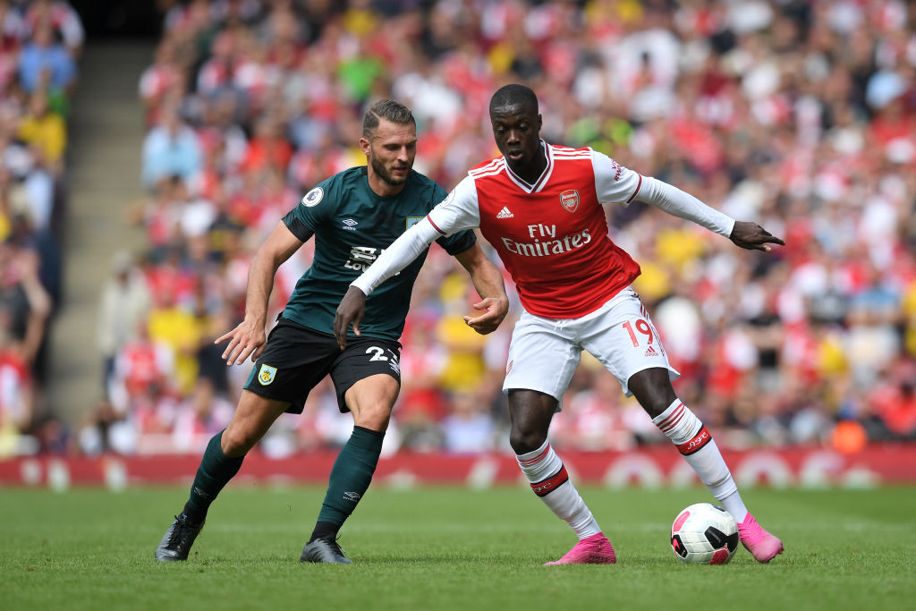 Watch Nicolas Pepe skilfully dribble past one Burnley defender and nutmeg the other