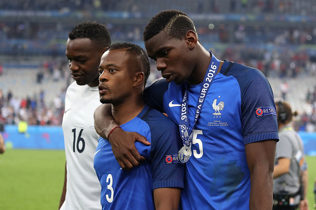 Patrice Evra claims Paul Pogba doesn't receive love at Manchester United