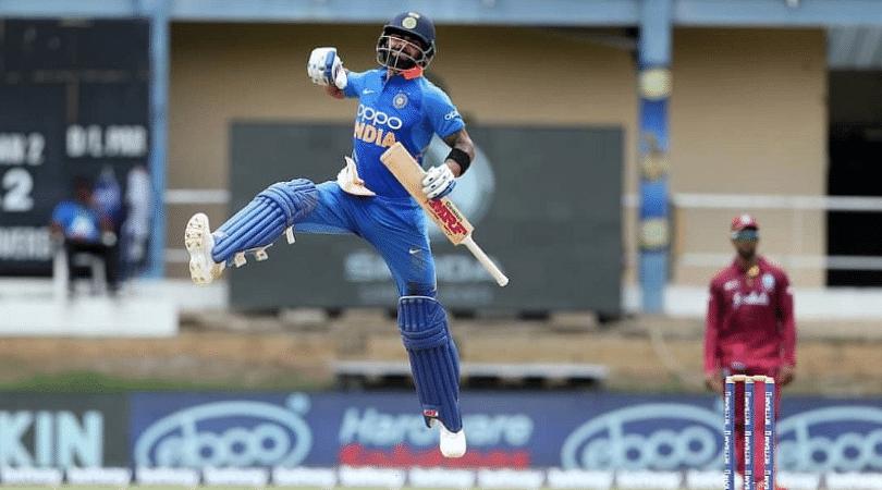 Virat Kohli celebration vs West Indies: Watch Indian captain 'signals towards surname' post 42nd ODI century