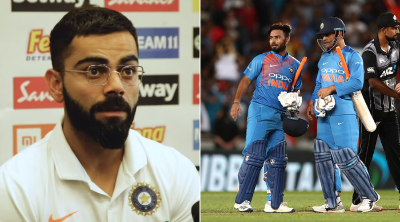 WATCH: Virat Kohli explains how MS Dhoni's absence is Rishabh Pant's perfect opportunity