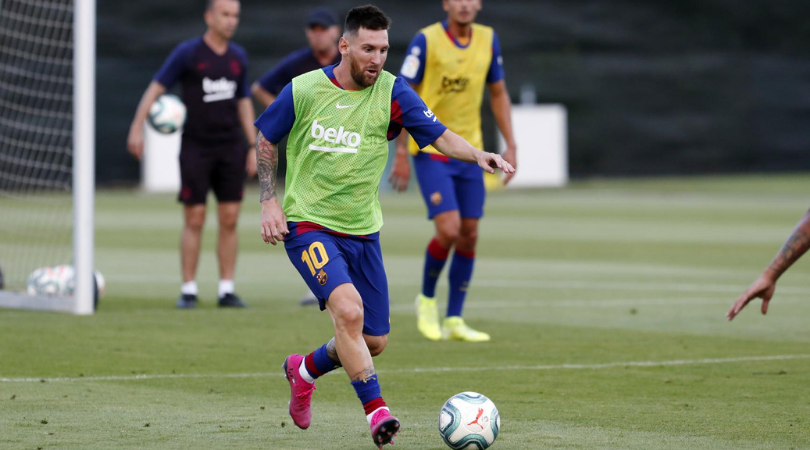 Watch: Lionel Messi tears it up in Barcelona's practice session on his return from injury