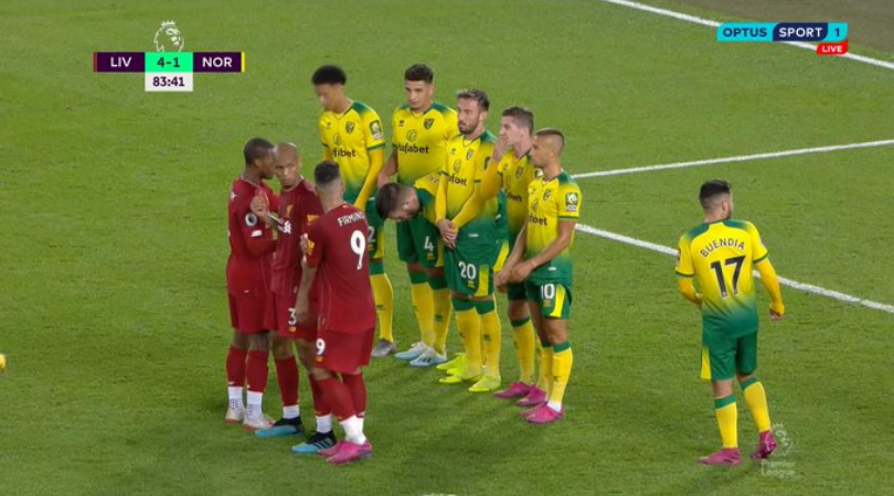 Liverpool unearth a loophole in the new 'NO strikers in the wall' rule